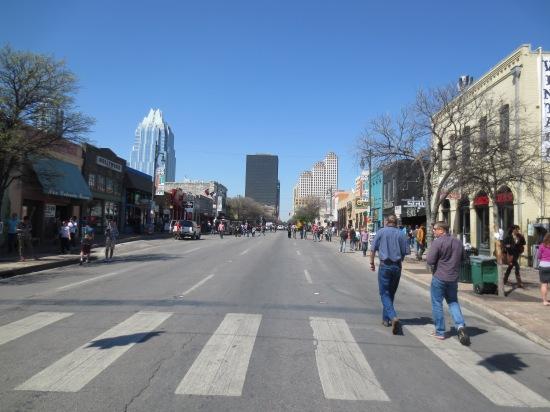 6th Street at noon