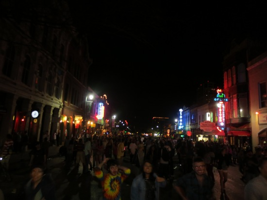 this is how crazy 6th Street gets at 2AM during SXSW