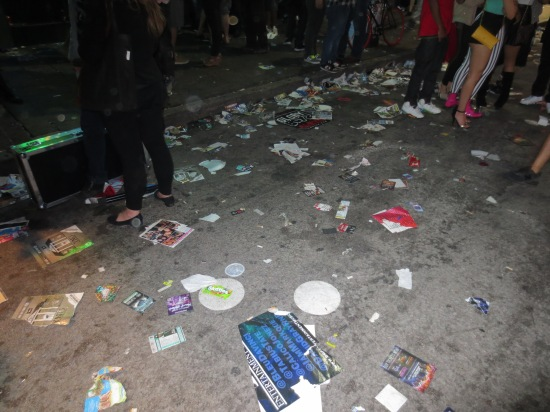 this is how polluted 6th Street gets during SXSW