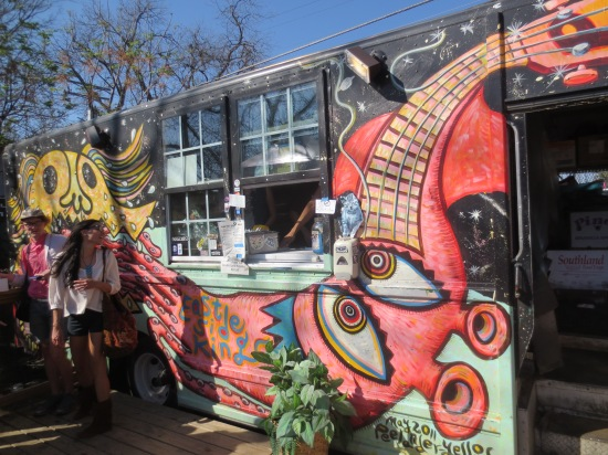 cool-looking food truck @ The Liberty