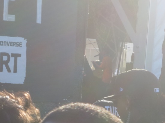 the line outside the Fader Fort wasn't moving during Earl Sweatshirt's set so I watched from outside the exit