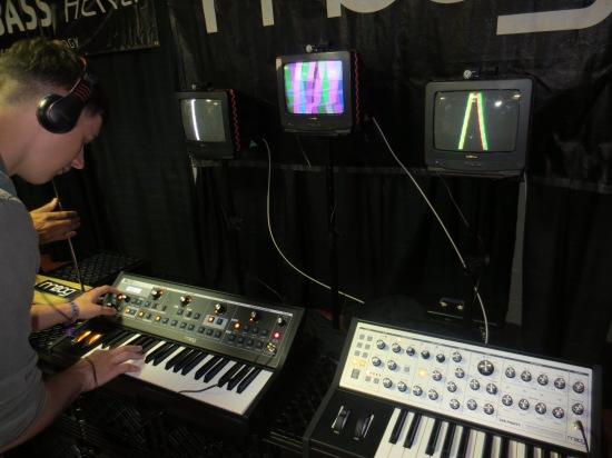 Moog demonstration in the technology room