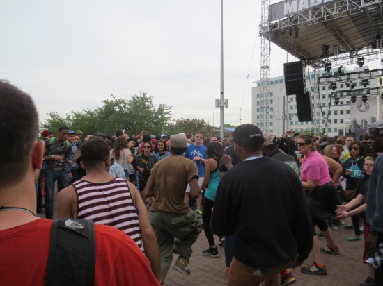 Dancing at the Made In Detroit stage