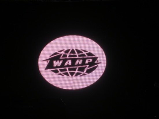 Why is there a Warp logo flashing onscreen?