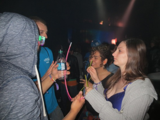 Breaking out the glowsticks