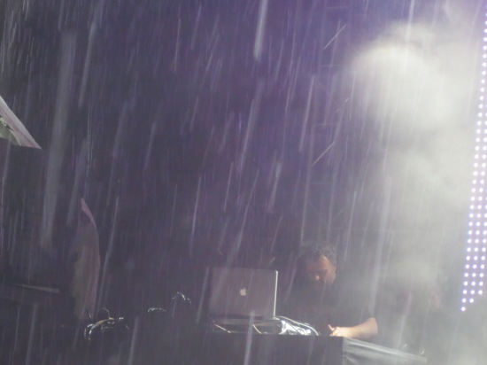 François K in the pouring rain