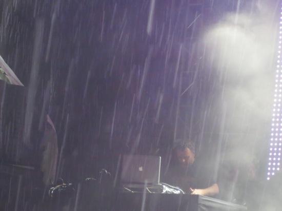 François K in the pouring rain