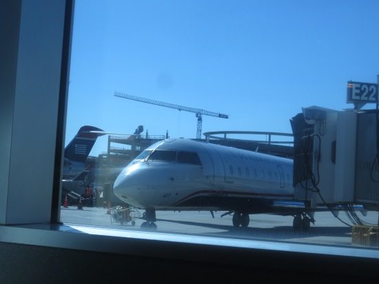 Looking out the window at the Charlotte airport