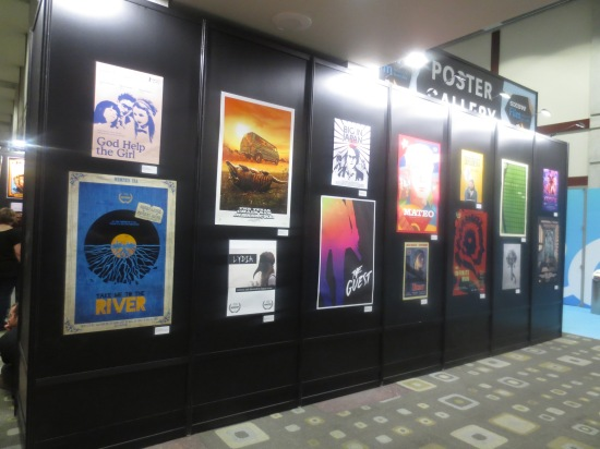 SXSW movie posters at Austin convention center