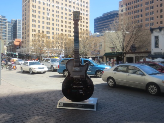 Guitar sculpture in downtown Austin