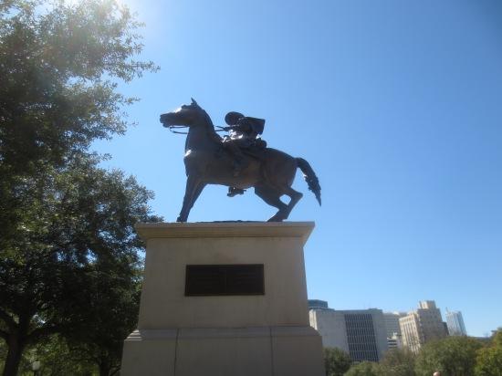 Horse statue near capital