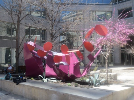 Sculpture outside office building