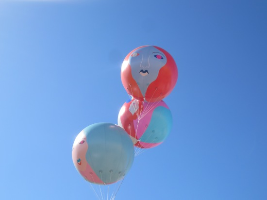 Balloons outside Fader Fort (which we never went into)