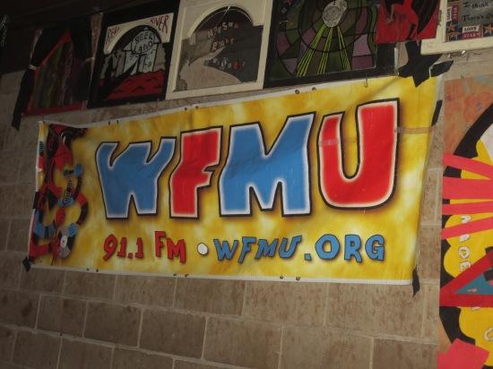 WFMU banner @ Beerland