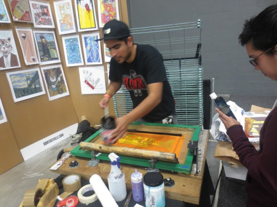 Screen printing @ Flatstock