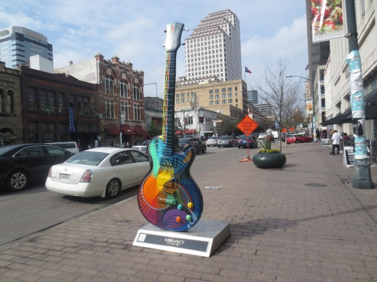 Guitar sculpture on Congress