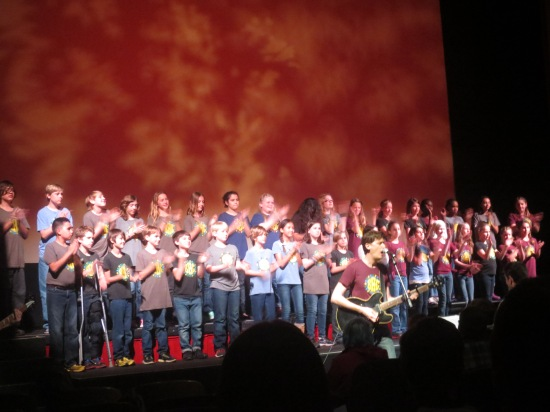Children's choir singing Stuart Murdoch/Belle & Sebastian songs