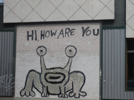 The infamous Daniel Johnston wall drawing