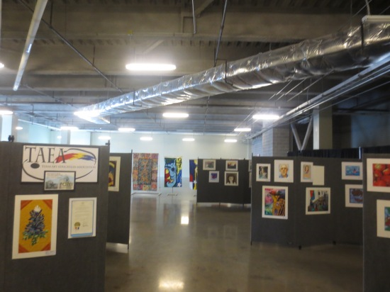 Student art gallery @ Bullock Texas State History Museum