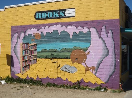 Bookstore mural