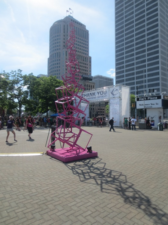 pink sculpture thing