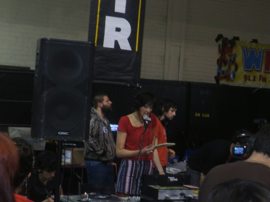 Terre T. hosting the last Cherry Blossom Clinic for a while @ WFMU Record Fair