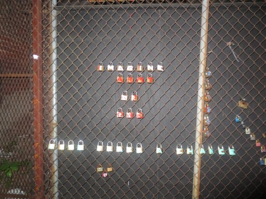 padlock art, NYC