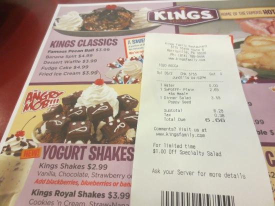 Kings Family Restaurant, Barkeyville, PA