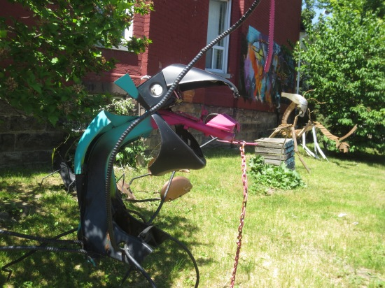 lawn sculpture on Augusta Ave.