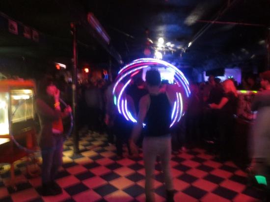 neon hula hoop guy