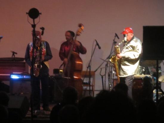 Marshall Allen and Danny Ray Thompson with Jaribu Shahid