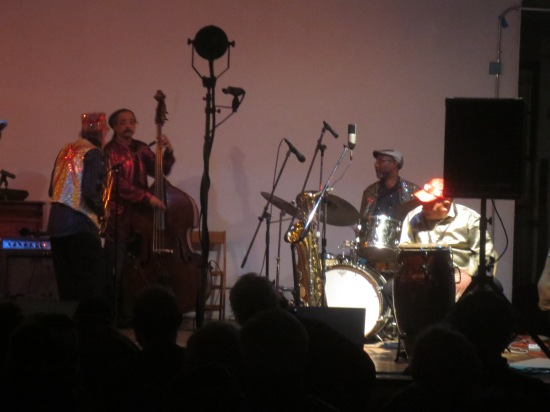 Marshall Allen and Danny Ray Thompson with Jaribu Shahid