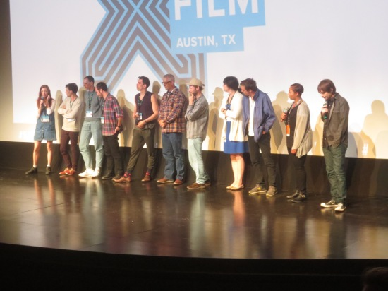 filmmakers of animated shorts screening @ Topfer Theatre (Don Hertzfeldt is all the way on the right!)