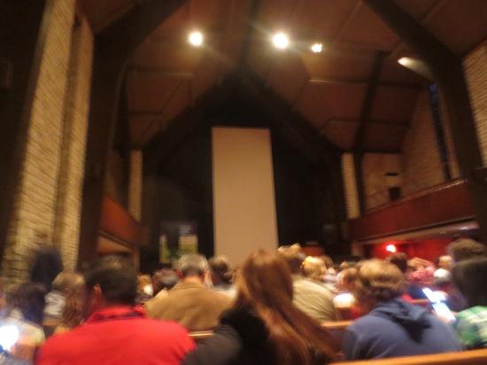Vertical Cinema inside Central Presbyterian Church