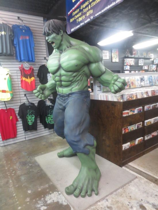 Incredible Hulk inside Austin Books & Comics