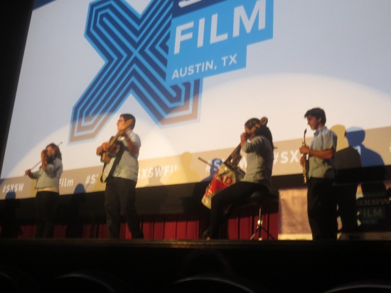 members of Landfill Harmonic @ Alamo Ritz, following the screening of their documentary