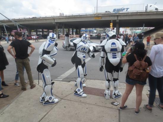 robots crossing the highway