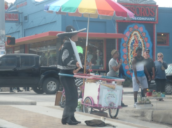 """creepy cowboy on S. Congress (his sign says """"I'm single, call me baby"""" followed by his phone number and Twitter handle)"""