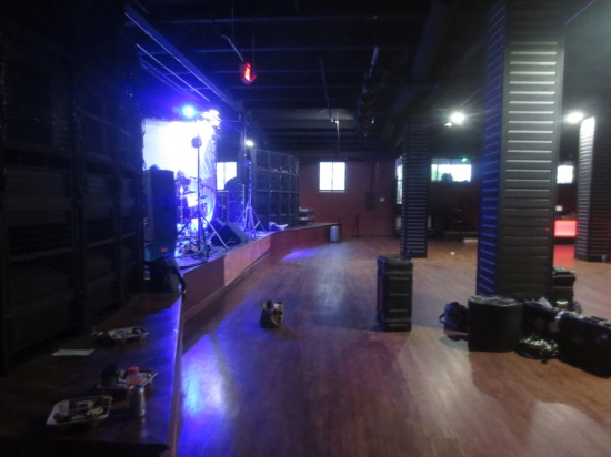 setting up at the newly remodeled Populux