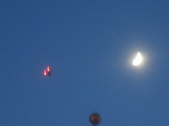 is that a drone next to the moon?