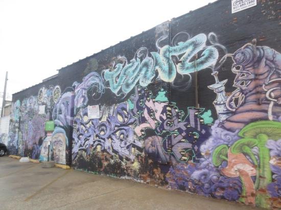 trippy mural