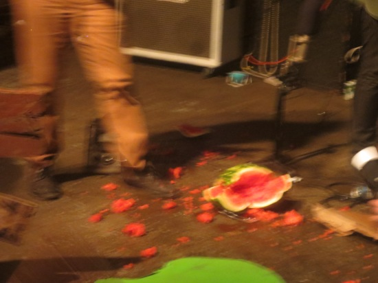 smashed watermelon