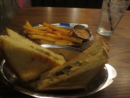 grilled cheese and fries from Laika Dog
