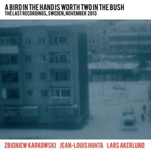 Zbigniew Karkowski/Jean-Louis Huhta/Lars Åkerlund: A Bird In The Hand Is Worth Two In The Bush (The Last Recordings, Sweden, November 2013)