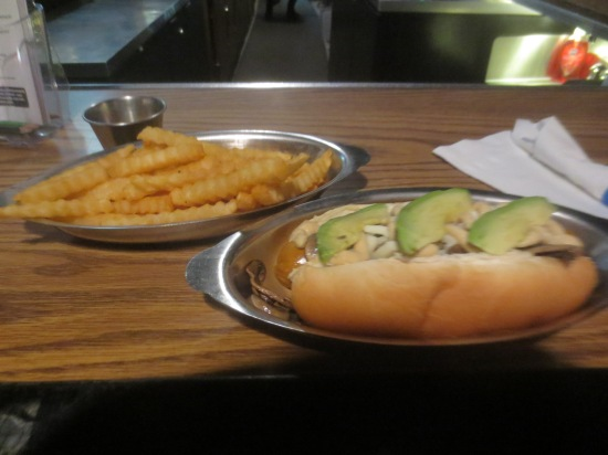 veggie dog + fries from Laika Dog