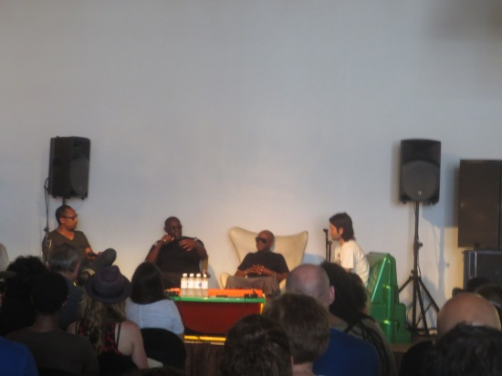 Derrick May, Kevin Saunderson & Juan Atkins in discussion @ MOCAD
