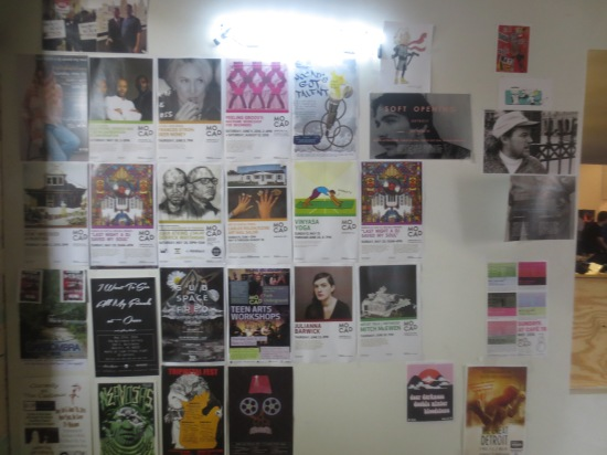 upcoming events wall @ MOCAD