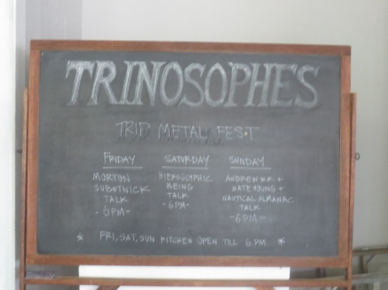 Trinosophes Trip Metal discussion schedule