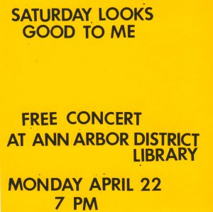 Saturday Looks Good To Me: April 22, 2013 Ann Arbor District Library tape