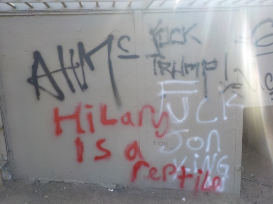 election graffiti